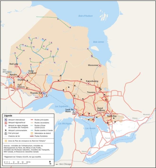 Réseau de transport du Nord de l'Ontario